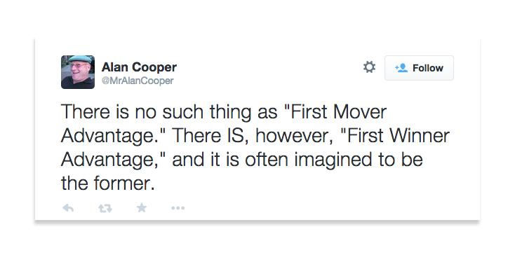 Alan Cooper Tweet