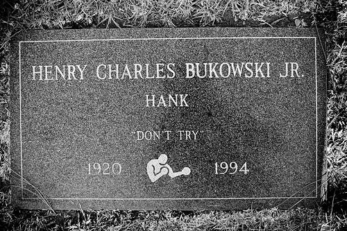 Bukowski's grave stone