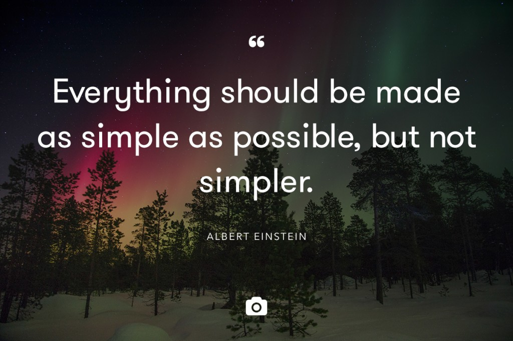 Einstein simple quote