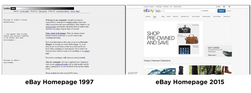 Ebay then and Now - updated