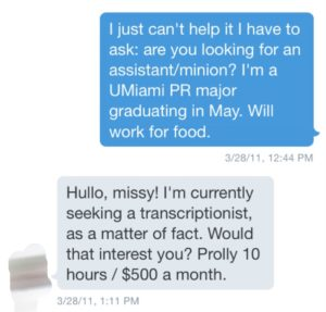 The DM that started it all.