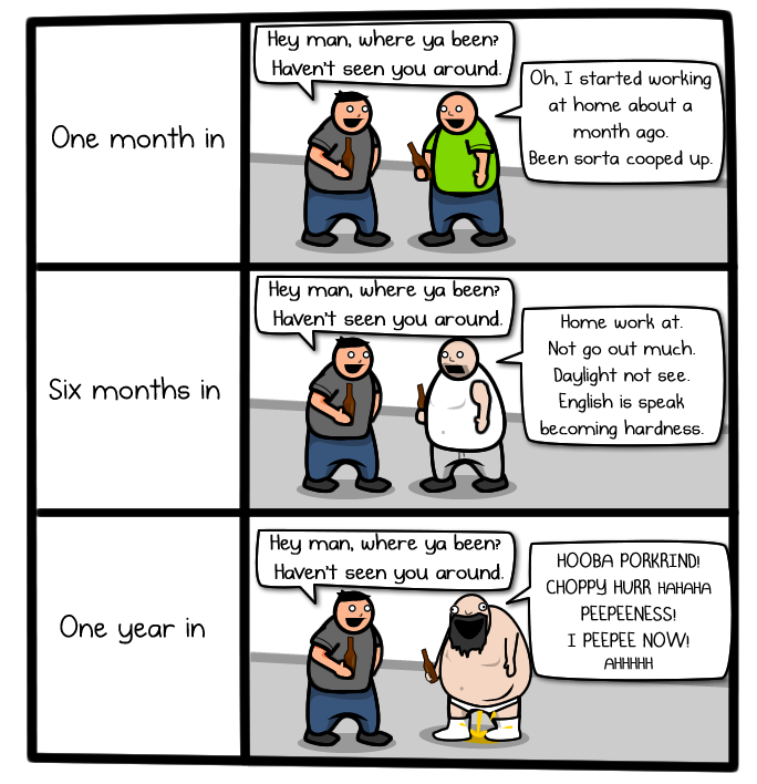 The Oatmeal's Why working from home is both awesome and horrible