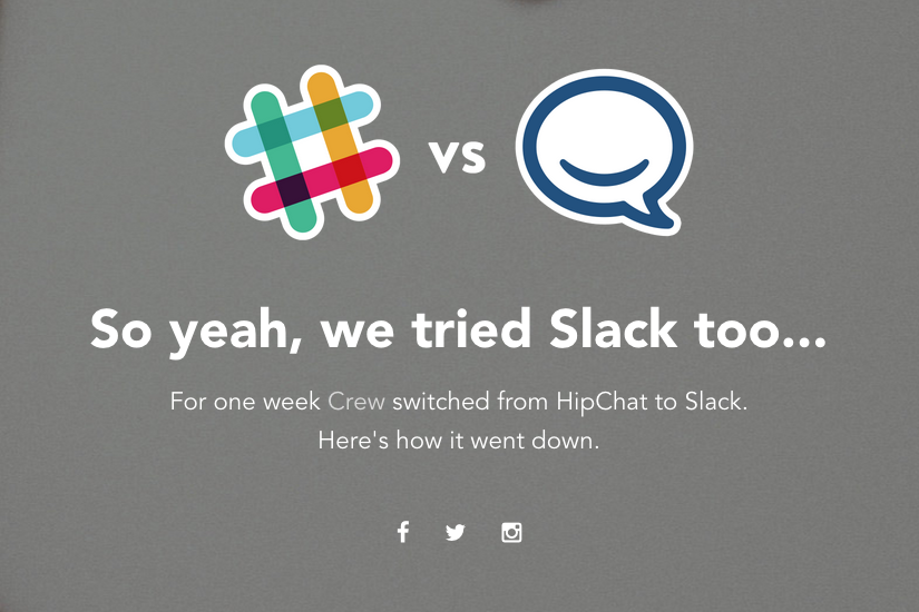 Slack vs. HipChat